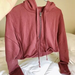 ALO yoga cropped sweatshirt